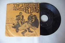 "MAMAS&PAPAS"" WORDS OF LOVE-disco 45 giri RCA Italy 1968"" PERFETTO"