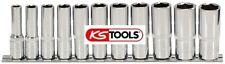 """KS TOOLS 918.0611  CHROMEplus® Sechskant-Stecknuss-Satz, lang 3/8"""""""