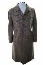 Daks Mens Coat Size 42 Large Multi Check Wool Viscose