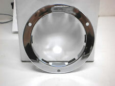 "4"" Round Chrome Flange FLush Mount For Standard 4"" Stop Tail Turn Lights"