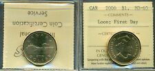 2006 Canada Dollar Loon First Day ICCS MS-65
