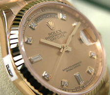 Rolex DAY-DATE President 118238 Mens Yellow Gold 36MM Champagne Diamond Dial