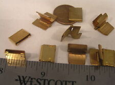5 Vtg Brass Solder On Clasp Jewelry Findings Repair Craft Bracelet Necklace Lot