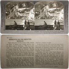 Keystone Stereoview the Resort Town of Sorrento in ITALY From RARE 1200 Card Set