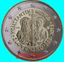 "SLOVAQUIE 2013 2 EURO COMMEMORATIVE ""CYRILLE ET METHODE""   PRIX TOP :  3,35 €"