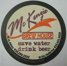 McKENZIE BREW HOUSE Beer COASTER, Mat, Chadds Ford, PENNSYLVANIA