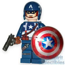 "Lego Custom *CAPTAIN AMERICA* Minifig - Movie Style ""C"""