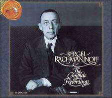Sergei Rachmaninoff: The Complete Recordings (CD, Dec-1992, 10 CDs, RCA)(cd5832)