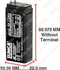 4.0Volt, 1500mAh-1.5 Ampere SUNCA ORIGINAL Sealed Lead Acid Rechargeable Battery
