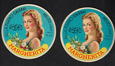 2 Anciennes étiquettes Fromage  Italie  BN10273 Margherita Femme