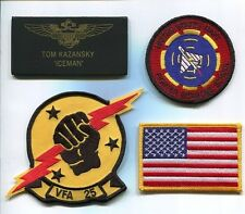 TOM ICEMAN KAZANSKY TOP GUN MOVIE FWS NAVY F-14 Squadron Movie Costume Patch Set