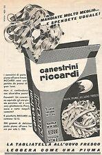W8972 Canestrini RICCARDI - Pubblicità del 1958 - Vintage advertising