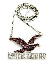 """NEW ICED OUT BRICK SQUAD PENDANT WITH 30"""" BOX CHAIN."""