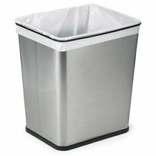 Polder 1410-47 Under-Counter 7-Gallon Square Trash Can, Brushed Stainless Steel