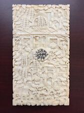 Antique Chinese Export Business Card Case Dated 1876, AS IS