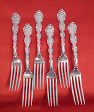 "Gorham Sterling Silver 'Strasbourg' Pattern 7 3/4"" Dinner Forks; Set of 6!!"