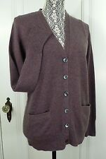 NWT J. CREW Collection CASHMERE BOYFRIEND CARDIGAN SWEATER HEATHER ORCHID SIZE M