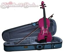 NEW Stentor Harlequin 3/4 Size Student Violin Outfit Pink with Case & Bow