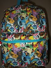Nwt Pokemon EEVEE Evolutions Umbreon Sylveon Characters Anime Backpack Bag Nes