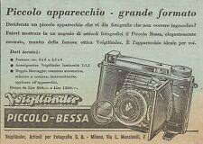 W6713 Macchina fotografica Piccolo Bessa Voigtlander - Pubblicità 1941 - Advert.