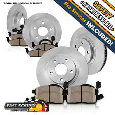 Front Rear Brake Rotors & Ceramic Pads VW BEETLE GOLF JETTA 2.0L 1.9L TDI 2.5L
