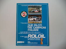 advertising Pubblicità 1980 ROL OIL e FIAT 131 ABARTH/MARCH BMW 802