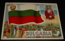 1956 Topps Trading Cards Flags of the World #28 BULGARIA