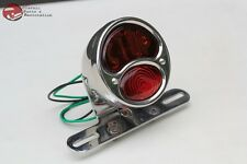 Custom Deluxe Motorcycle Rear Fender Tail Light Lamp Stop Lens Hot Rod Style