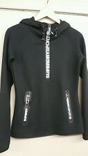 Superdry ladies black gym tech hood new with tags size xl £54.99