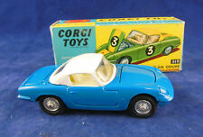 Corgi 319 Lotus Elan Coupe in Blue with White Hardtop Detachable Chassis Superb