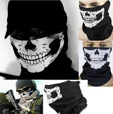 Biker Skeleton Skull Mask Face Scarf Balaclava Motorcycle Snood Bandana Ghost