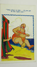 1930s Inter-Art (?) Dudley Buxton Postcard Cross Dressing Transgender Mankini