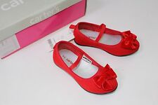 Carter's Classic Holiday toddler Girls Size 6 Red Franny Velvet Bow Shoes NIB