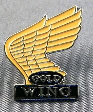 Metal Enamel Pin Badge Brooch Goldwing Motorbike Wings Gold Wing Tourer Hon