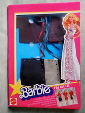 BARBIE VESTITO IN PELLE FAI DA TE LEATHER DRESS  MATTEL 1980 FONDO DI MAGAZZINO