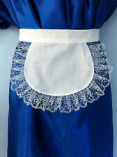 Adulto bianco pinny Grembiule FRENCH MAID SISSY WAITRESS FANCY DRESS NEW SLAVE 10 x 8