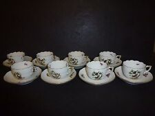 Herend Set of 8 Demitasse Cups/Saucers - Perfect Condition - Retail $1,520