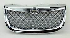 Chrysler 300M 99-04 Chrome Bentley Style Mesh Front Bumper Hood Grill w/ Badge