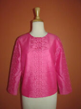 New C Wonder Chris Burch Size 4 Pink Embroidered Silk Blend Dressy Blouse