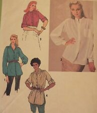 VTG 79 SIMPLICITY 9234 Misses Pullover Tunic or Shirt PATTERN 18-20/40-42B