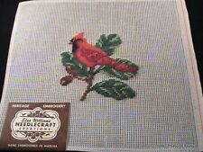 "Pre-Worked ""Cardinal"" Heritage Embroidery By Elsa Williams Needlecraft #21224"