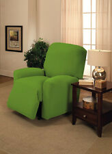 "JERSEY RECLINER COVER----LAZY BOY----LIME GREEN---""STRETCHES"" --FITS MOST CHAIRS"