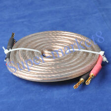 10FT Super OFC Speaker Wire W/ Banana Connector Cable*1