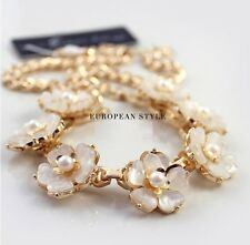 N1006 Forever 21 Shell Flower Oyster Bridesmaid Wedding Accessories Necklace US