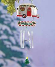HOLIDAY DECORATED CAMPER AIRSTREAM STYLE RV HOME WINDCHIMES ~ GIFT IDEA ~ NIB