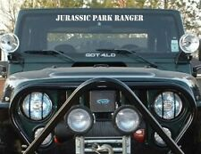 Jurassic Park Ranger windshield banner decal jeep size