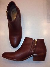"""Sam Edelman """"Petty"""" Brown Leather Ankle Boots Booties Women's Size 7M"""