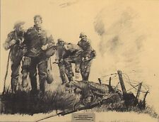 "WW I COMBAT ART PRINT ""WOUNDED AT VERDUN OFFENSIVE 1918""  WESTERN FRONT 1918"