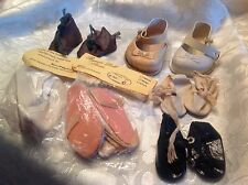 Doll shoes vintage 6 pair
