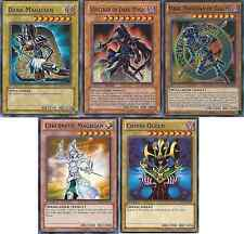 Yugioh Sorcerer of Dark Magic + Dark Magician Of Chaos + Cosmo Queen - NM